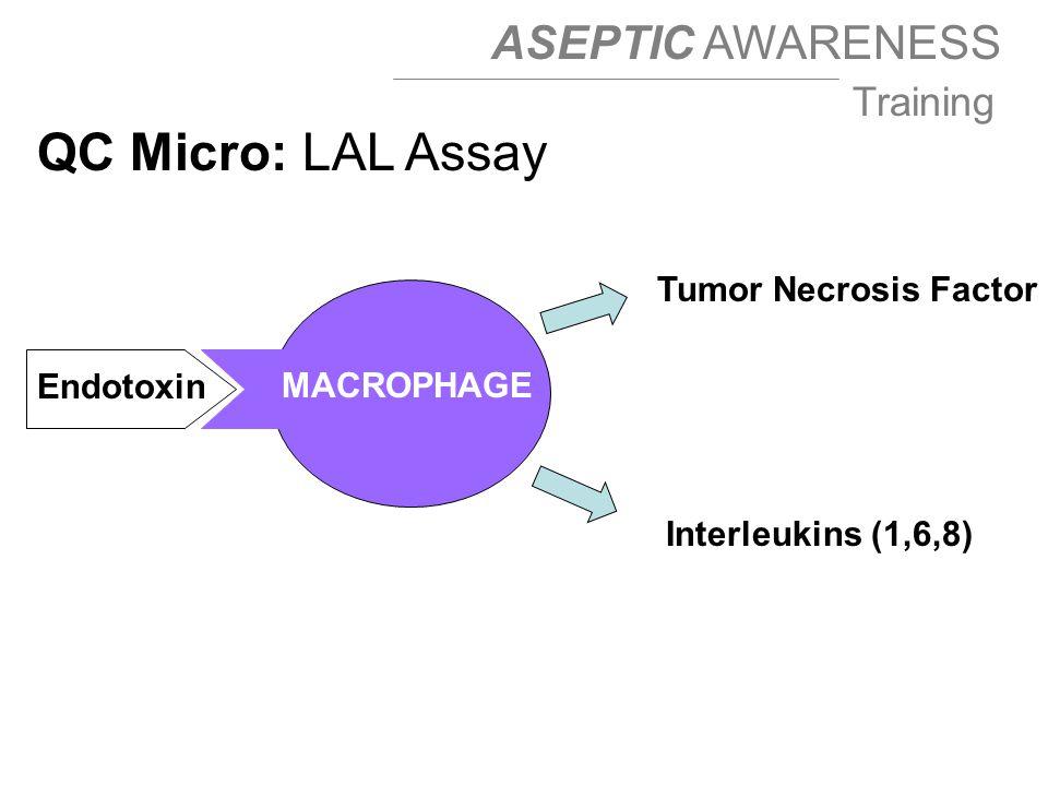 QC Micro: LAL Assay Tumor Necrosis Factor Endotoxin MACROPHAGE