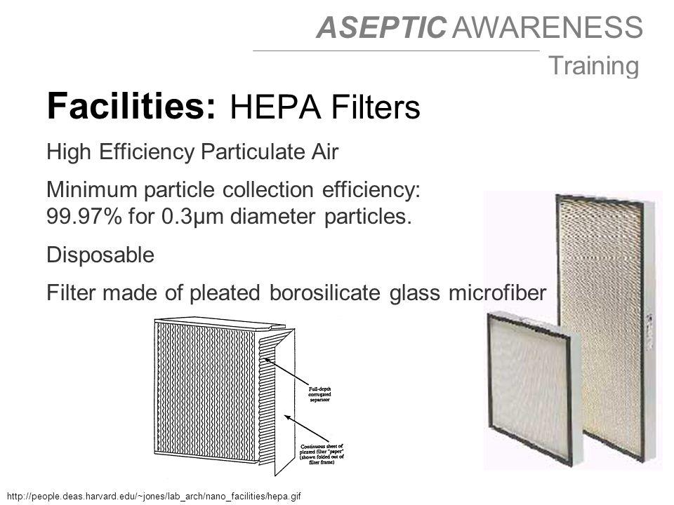 Facilities: HEPA Filters