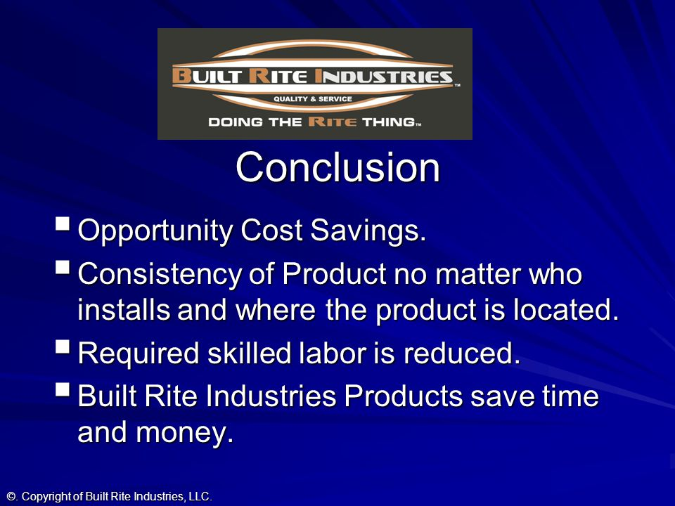 Conclusion Opportunity Cost Savings.