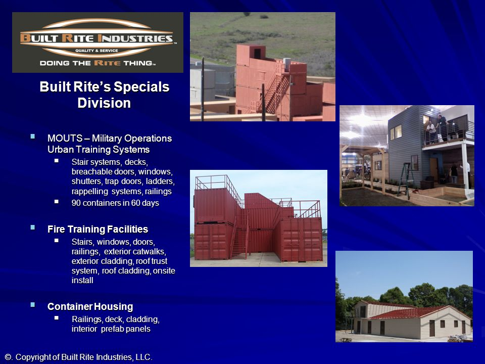 Built Rite's Specials Division