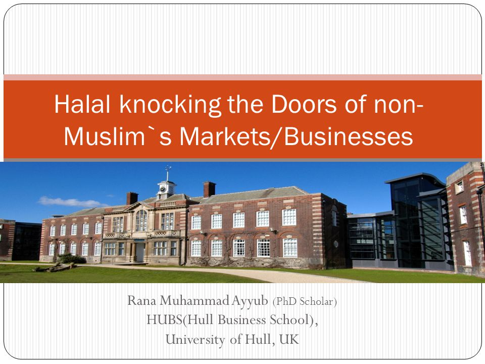 Halal knocking the Doors of non-Muslim`s Markets/Businesses