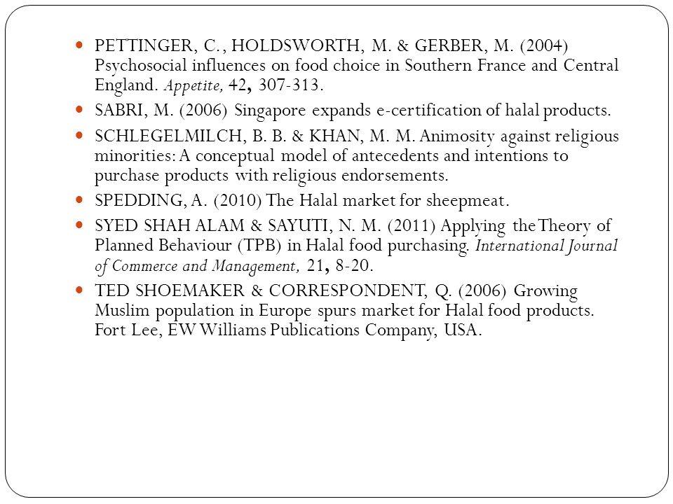 PETTINGER, C. , HOLDSWORTH, M. & GERBER, M
