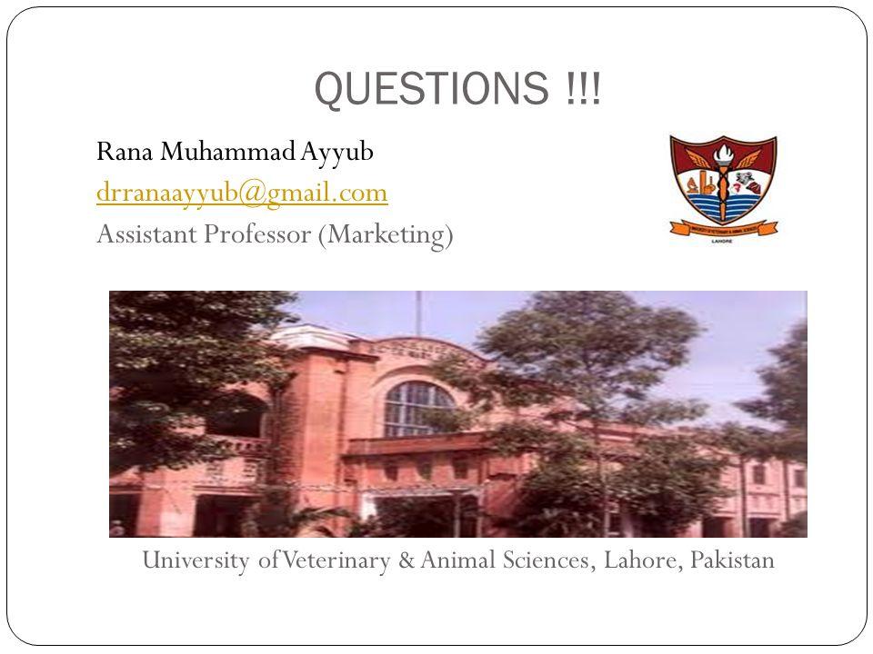 University of Veterinary & Animal Sciences, Lahore, Pakistan