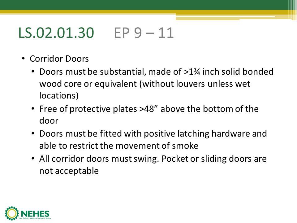 LS.02.01.30 EP 9 – 11 Corridor Doors.