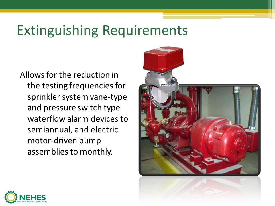 Extinguishing Requirements