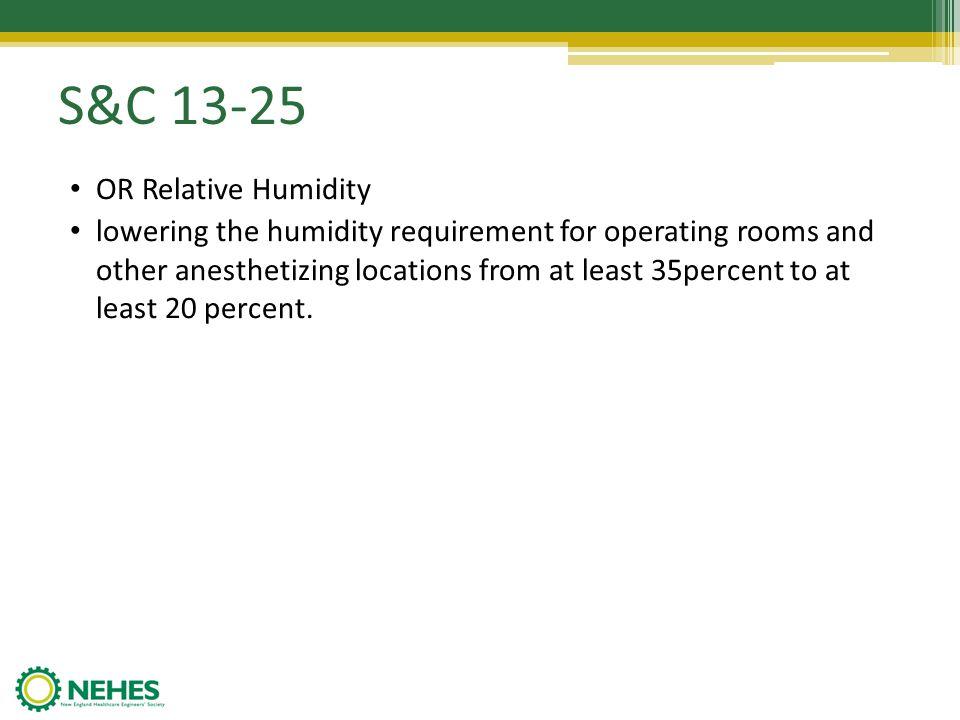 S&C 13-25 OR Relative Humidity