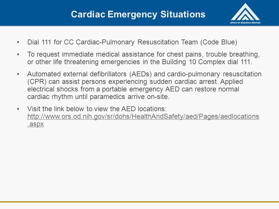 Cardiac Emergency Situations