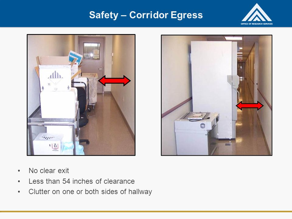 Safety – Corridor Egress