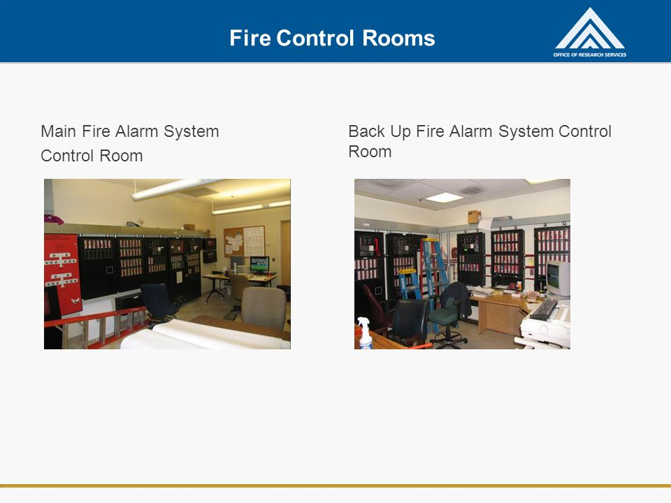 Fire Control Rooms Main Fire Alarm System Control Room