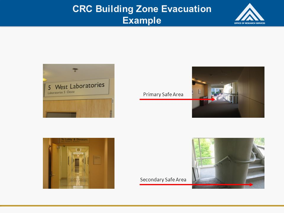 CRC Building Zone Evacuation Example