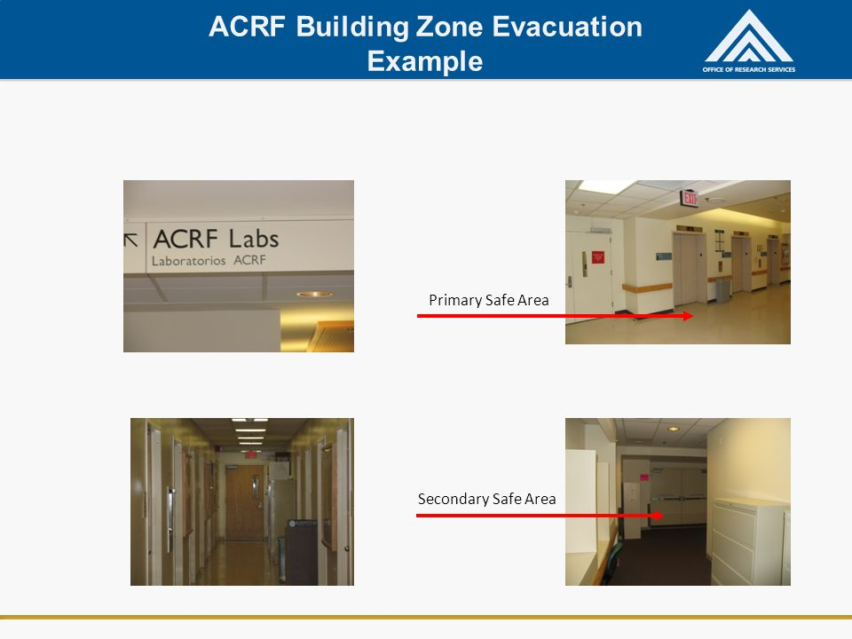 ACRF Building Zone Evacuation Example
