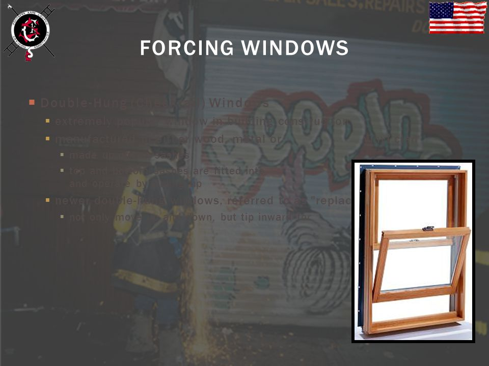 FORCING WINDOWS Double-Hung (Checkrail) Windows