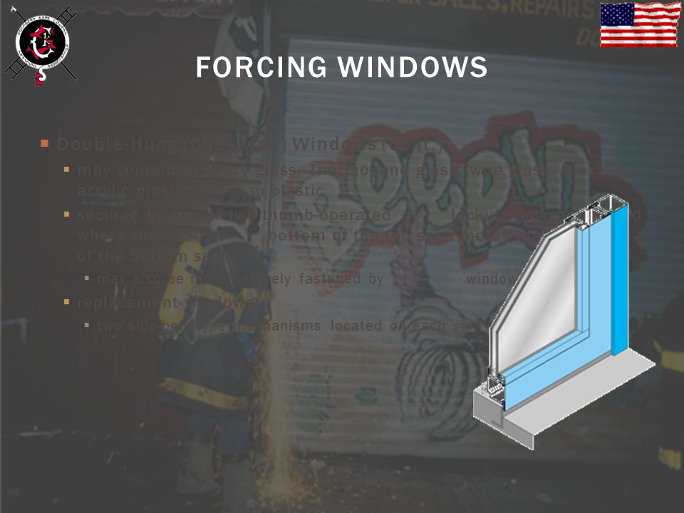 FORCING WINDOWS Double-Hung (Checkrail) Windows (cont.)