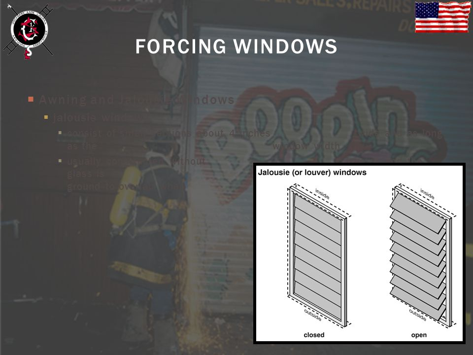FORCING WINDOWS Awning and Jalousie Windows jalousie windows