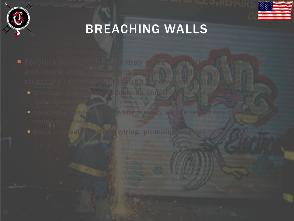 BREACHING WALLS