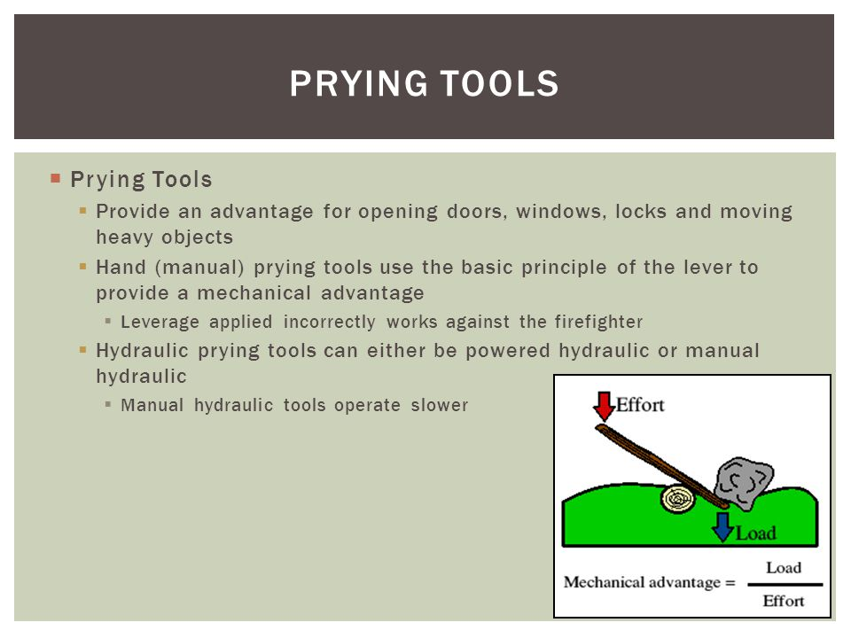 PRYING TOOLS Prying Tools