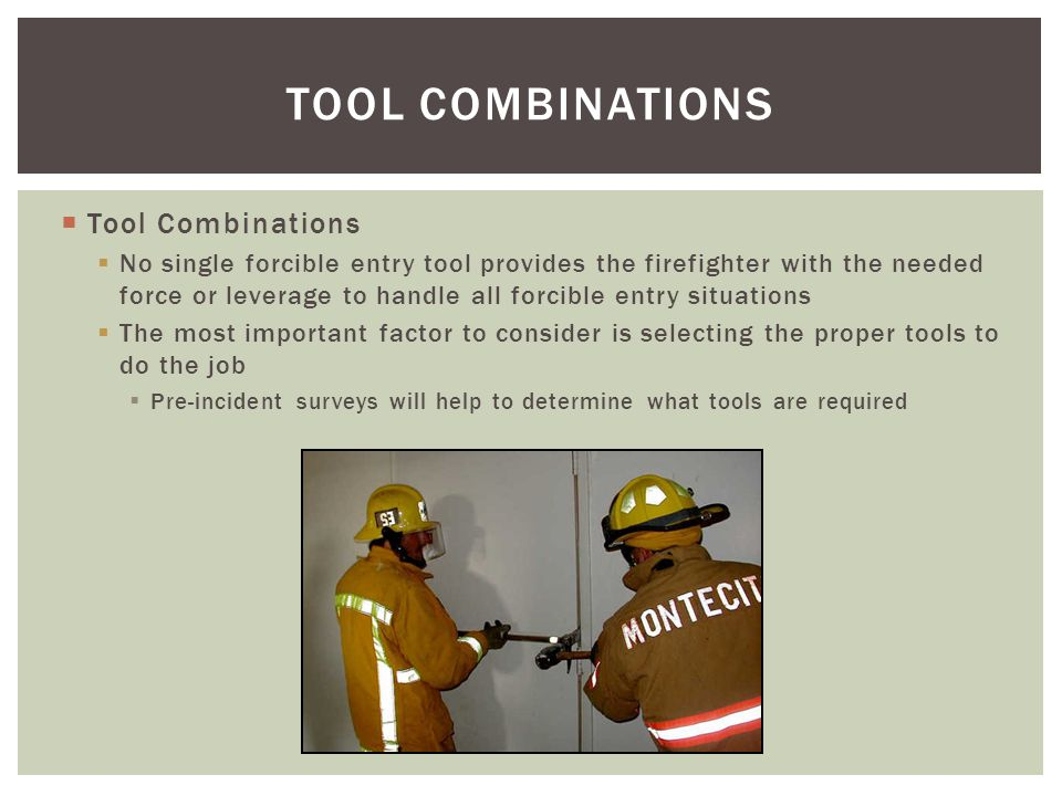 TOOL COMBINATIONS Tool Combinations