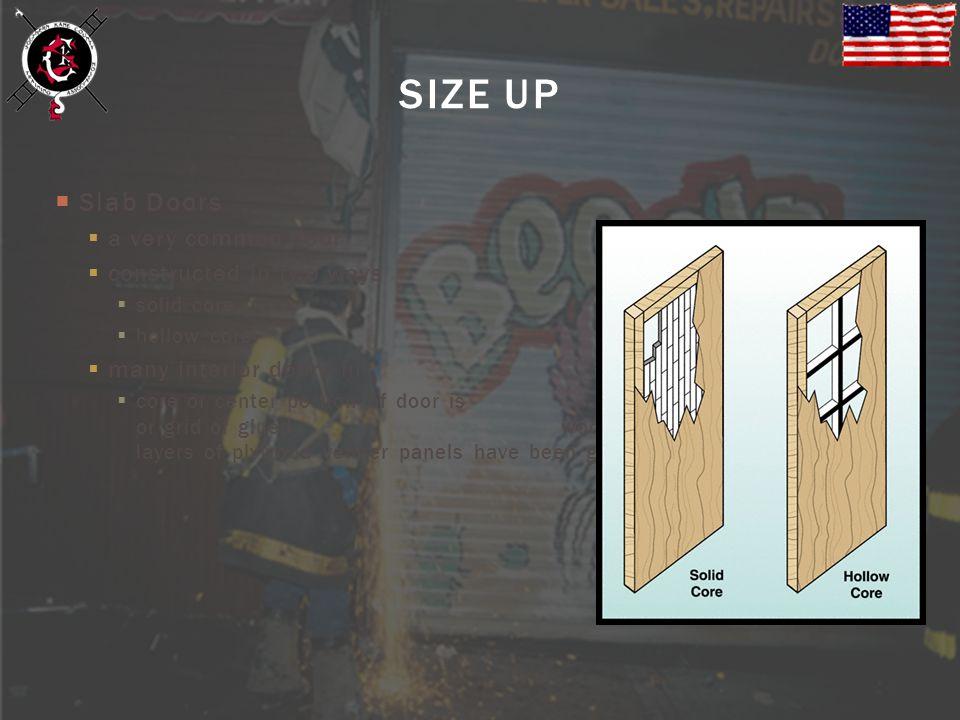 SIZE UP Slab Doors a very common door constructed in two ways