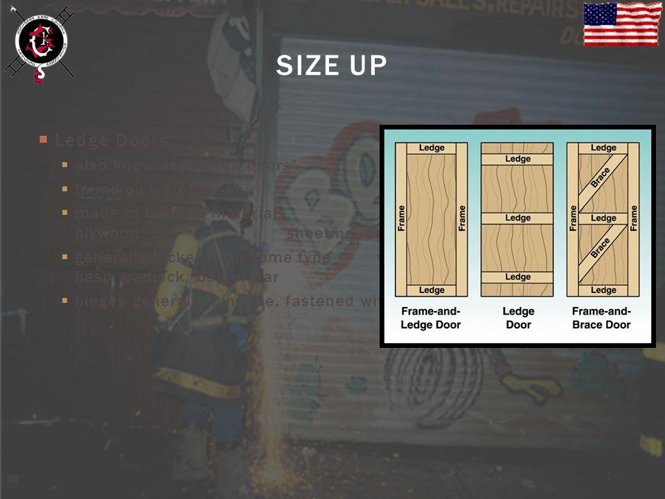 SIZE UP Ledge Doors also know as batten doors