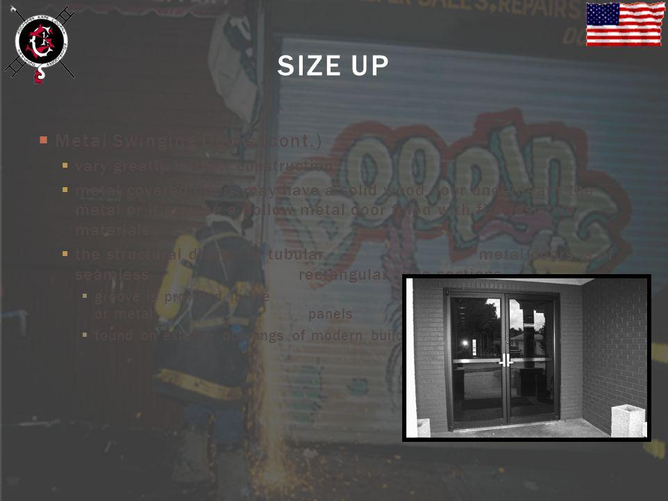 SIZE UP Metal Swinging Doors (cont.)