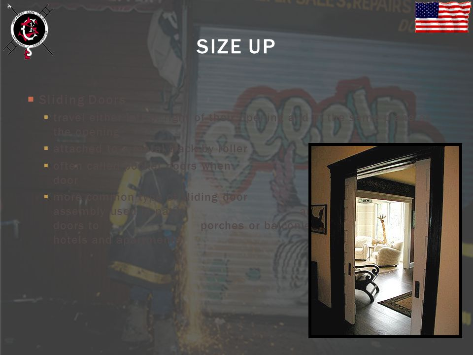 SIZE UP Sliding Doors. travel either left or right of their opening and in the same plane as the opening.