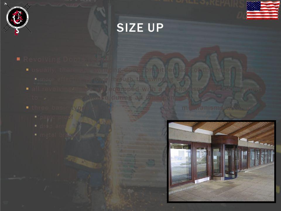 SIZE UP Revolving Doors (cont.)