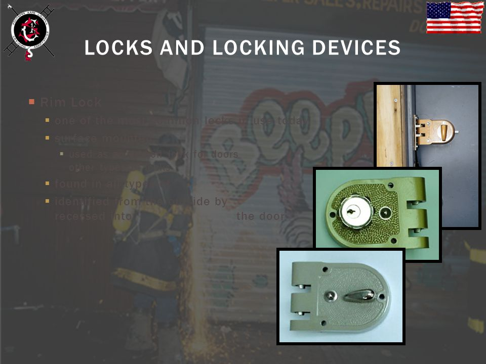 LOCKS AND LOCKING DEVICES