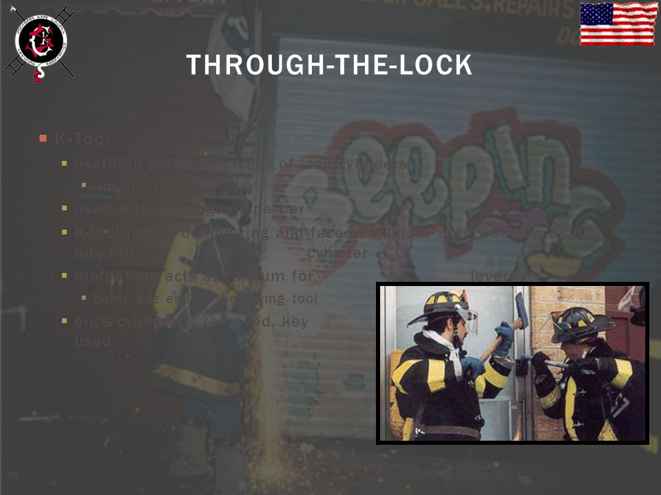 THROUGH-THE-LOCK K-Tool useful in pulling all types of lock cylinders