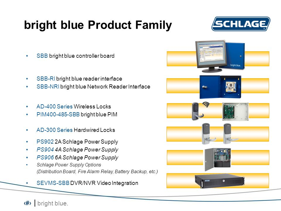 bright blue Product Family