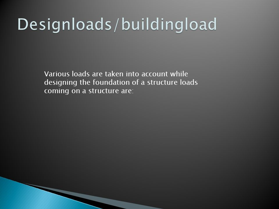 Designloads/buildingload
