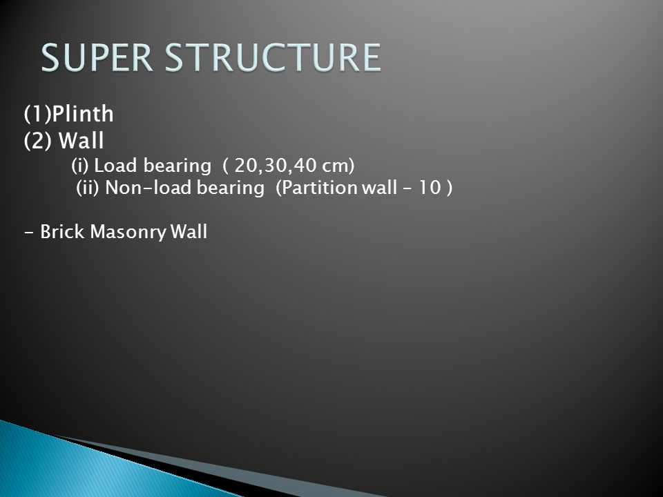 SUPER STRUCTURE Plinth Wall