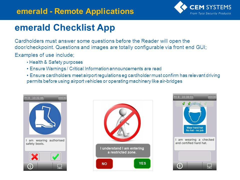 emerald Checklist App emerald - Remote Applications