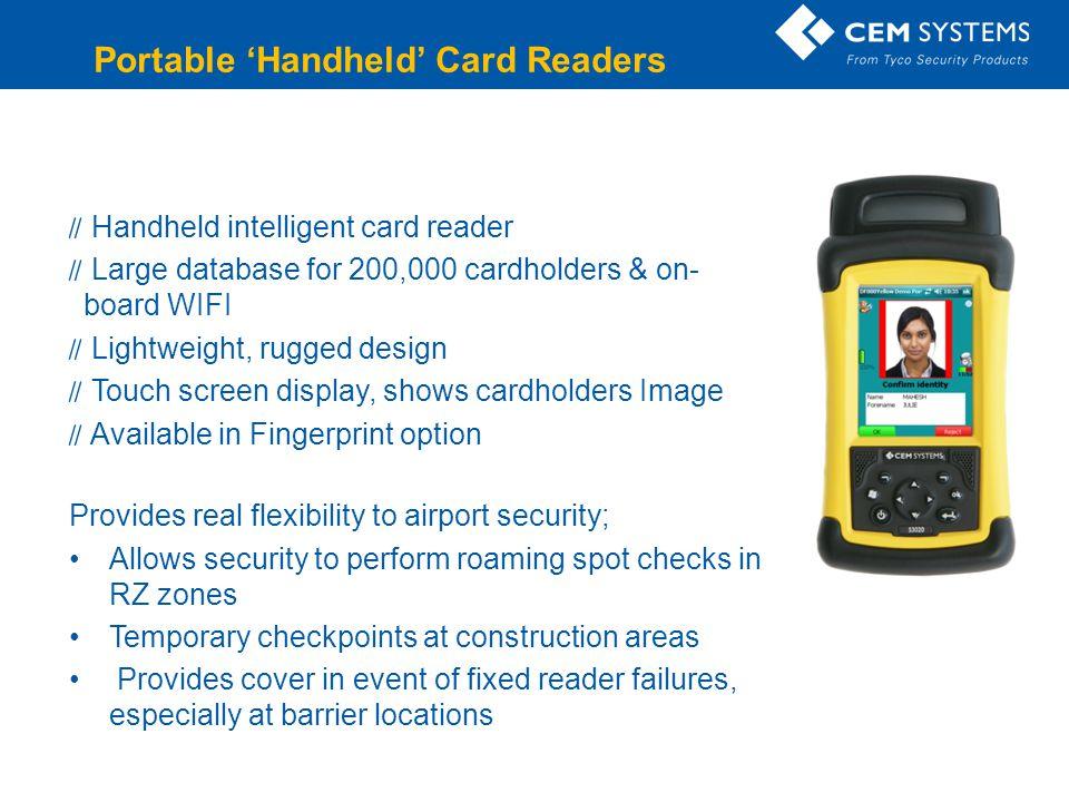 Portable 'Handheld' Card Readers