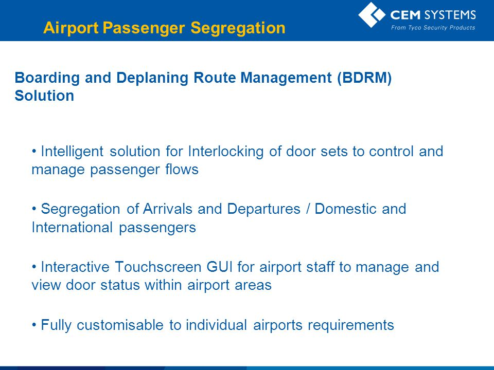 Airport Passenger Segregation