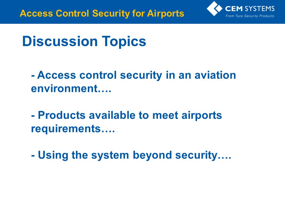 Access Control Security for Airports