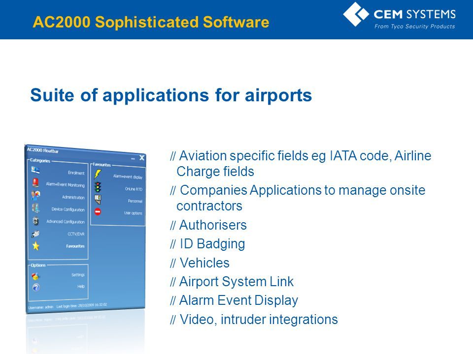 Suite of applications for airports
