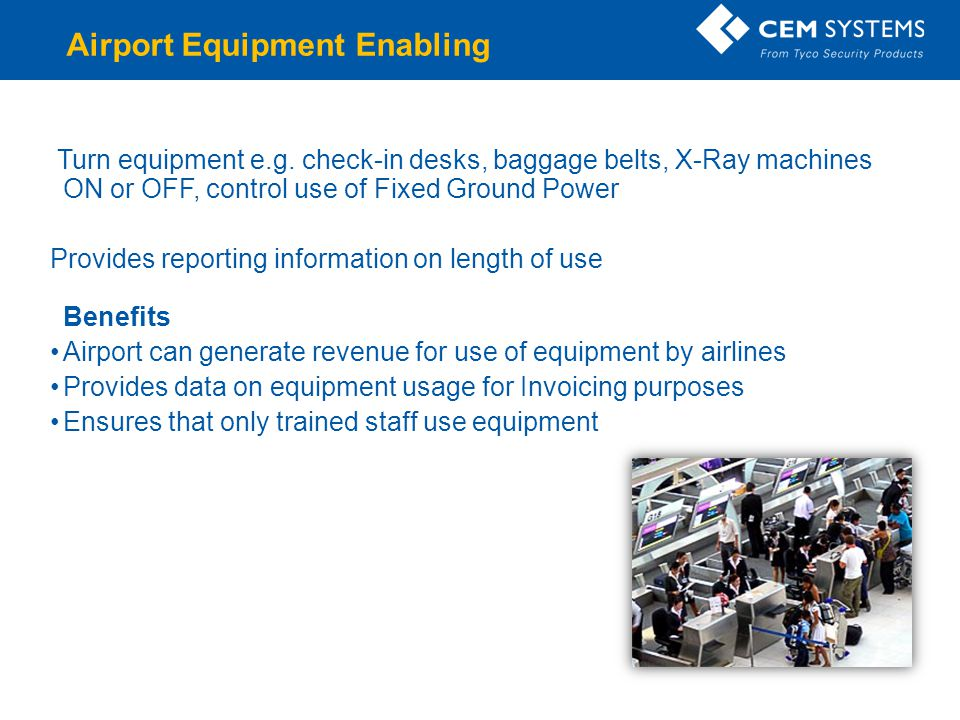 Airport Equipment Enabling