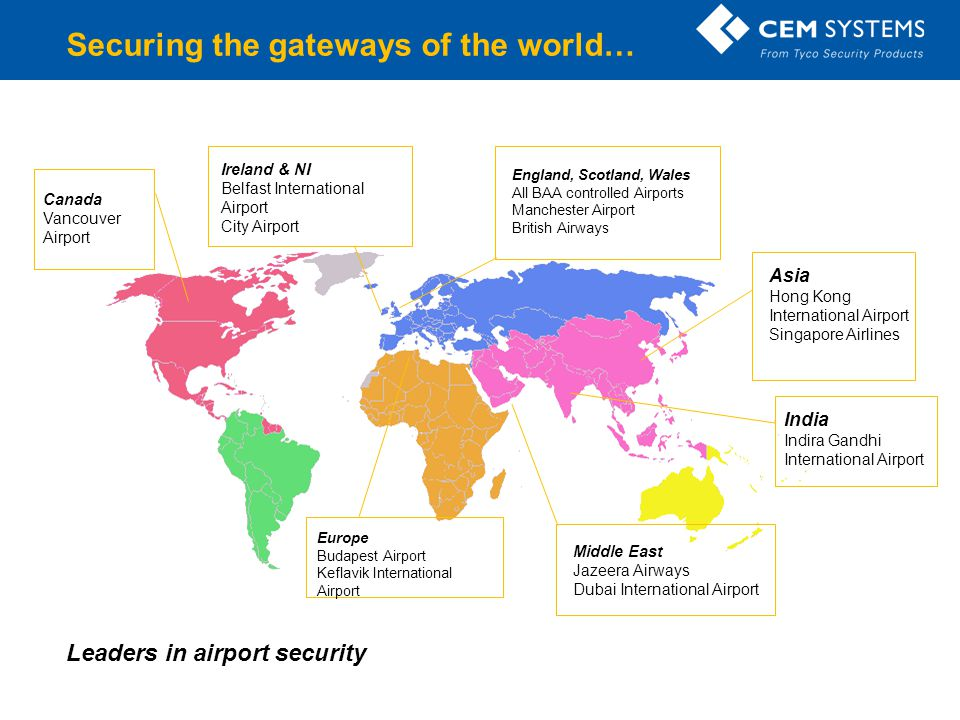 Securing the gateways of the world…