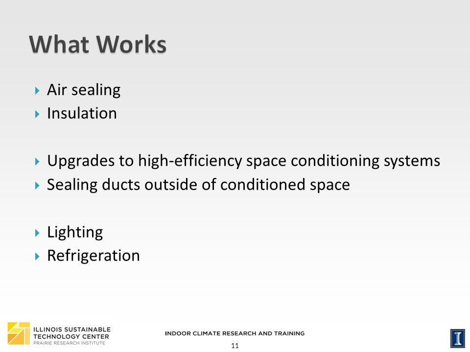 What Works Air sealing Insulation