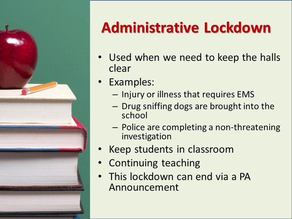 Administrative Lockdown