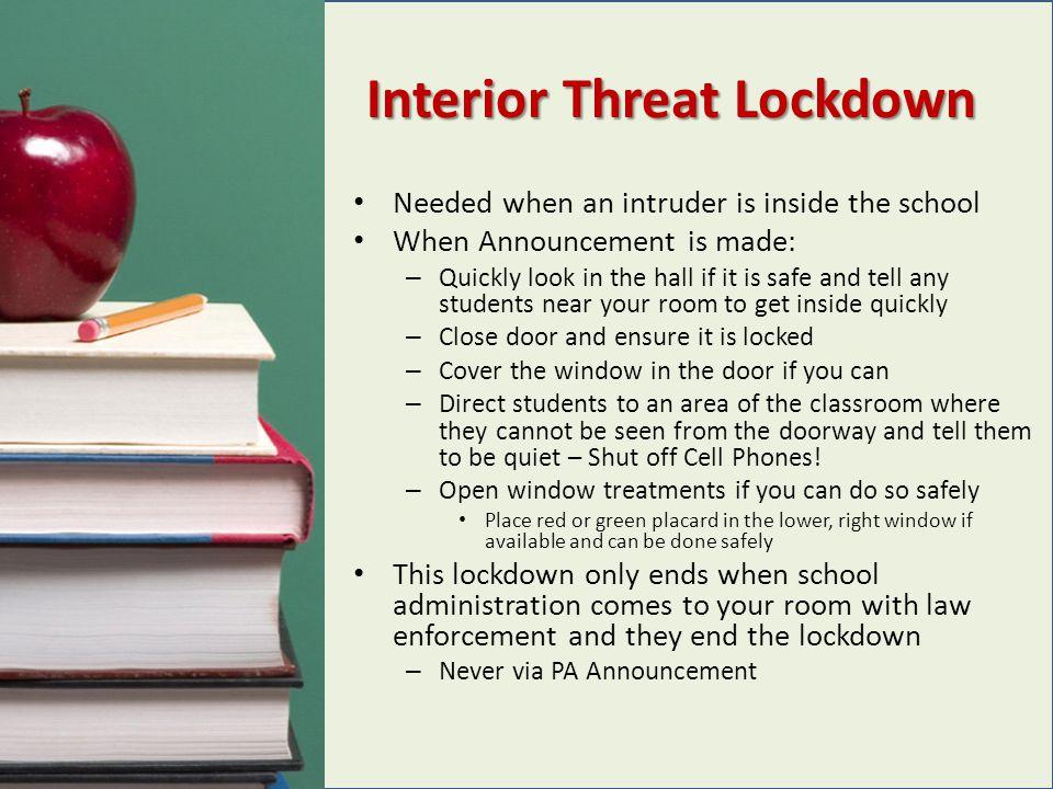 Interior Threat Lockdown