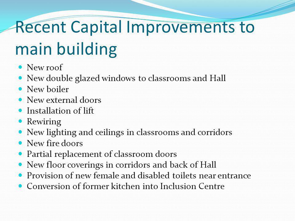 Recent Capital Improvements to main building