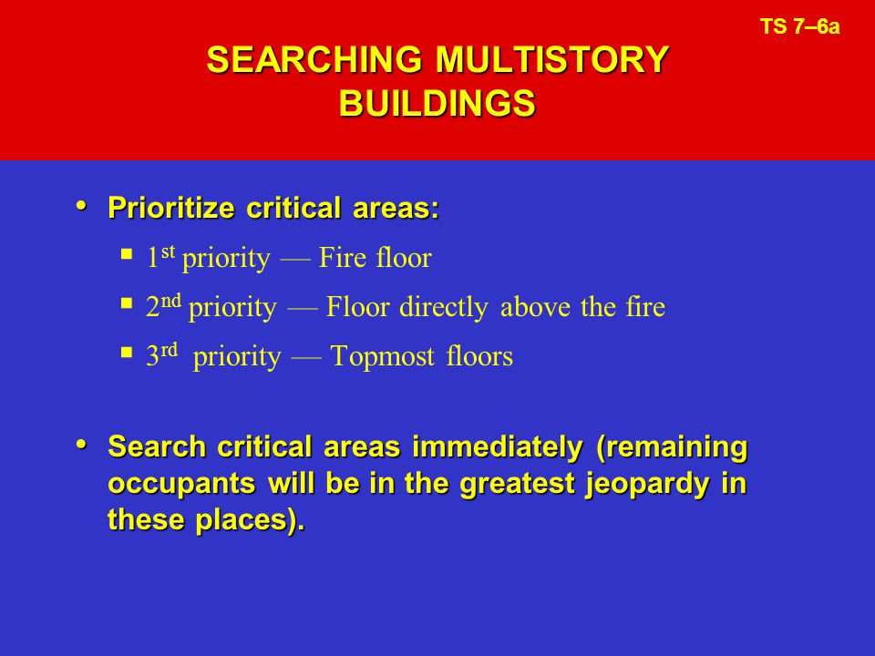 SEARCHING MULTISTORY BUILDINGS