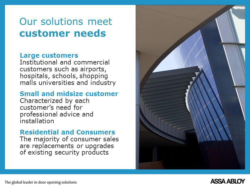 Our solutions meet customer needs