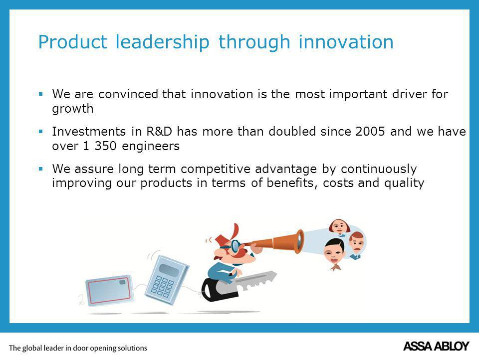 Product leadership through innovation