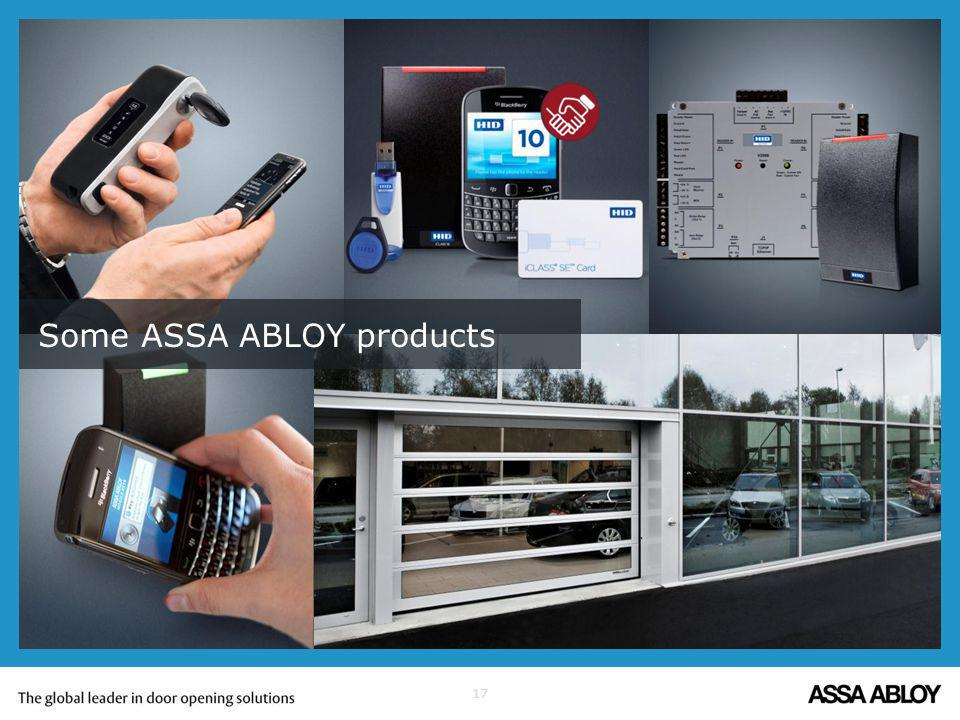 Some ASSA ABLOY products