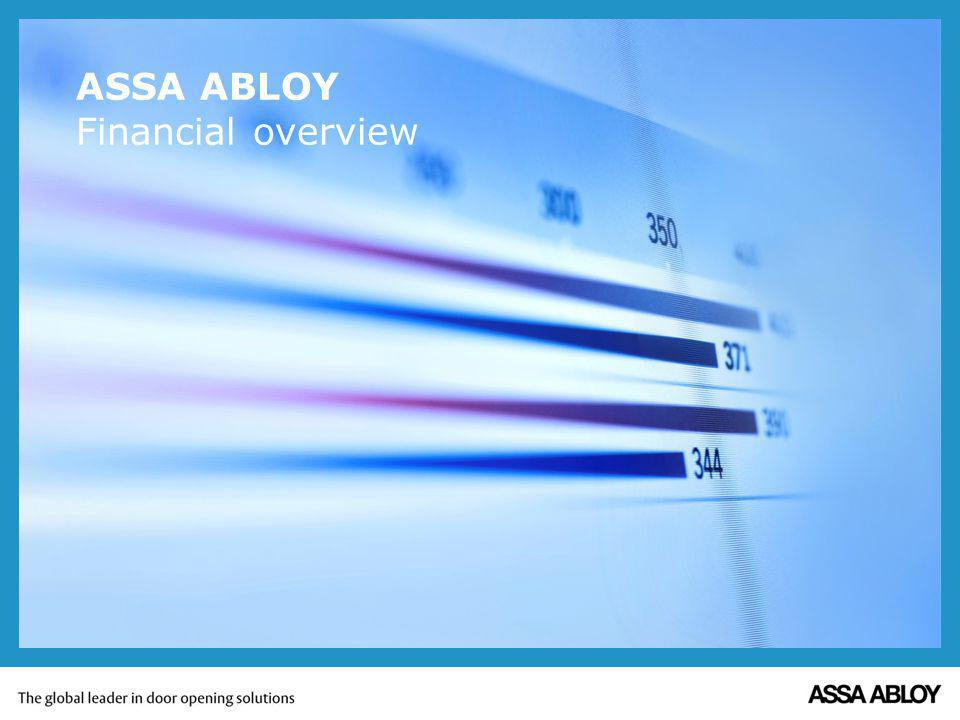 ASSA ABLOY Financial overview