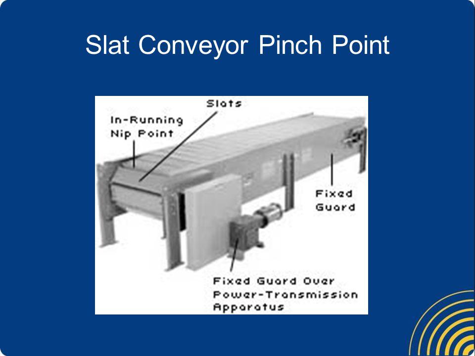 Slat Conveyor Pinch Point