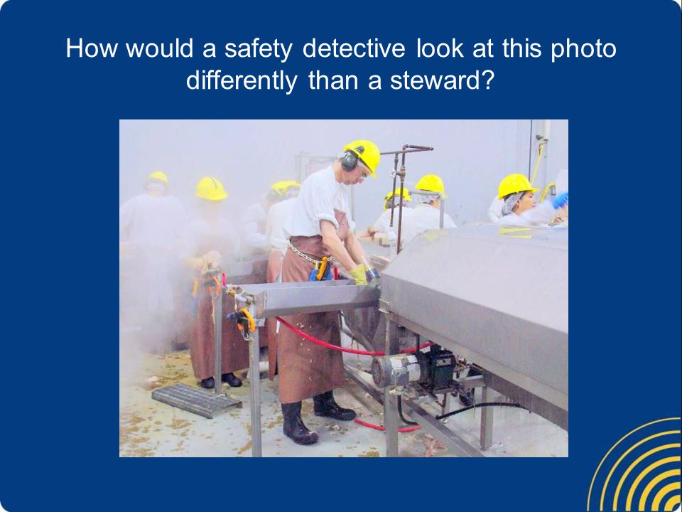 How would a safety detective look at this photo differently than a steward
