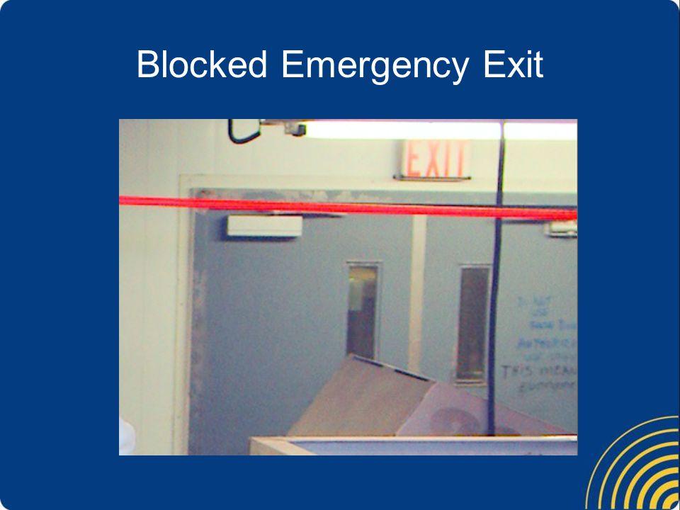 Blocked Emergency Exit